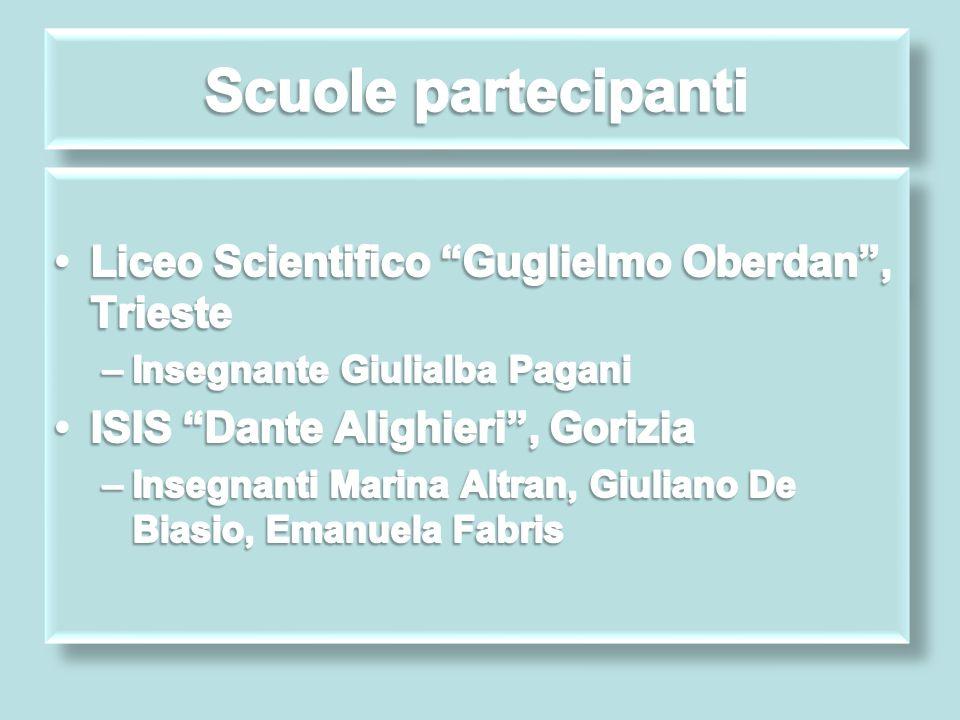 Scuole partecipanti Liceo Scientifico Guglielmo Oberdan , Trieste