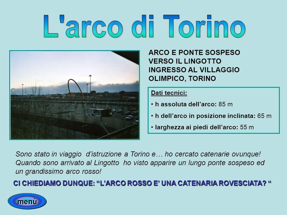 L arco di Torino menù ARCO E PONTE SOSPESO VERSO IL LINGOTTO