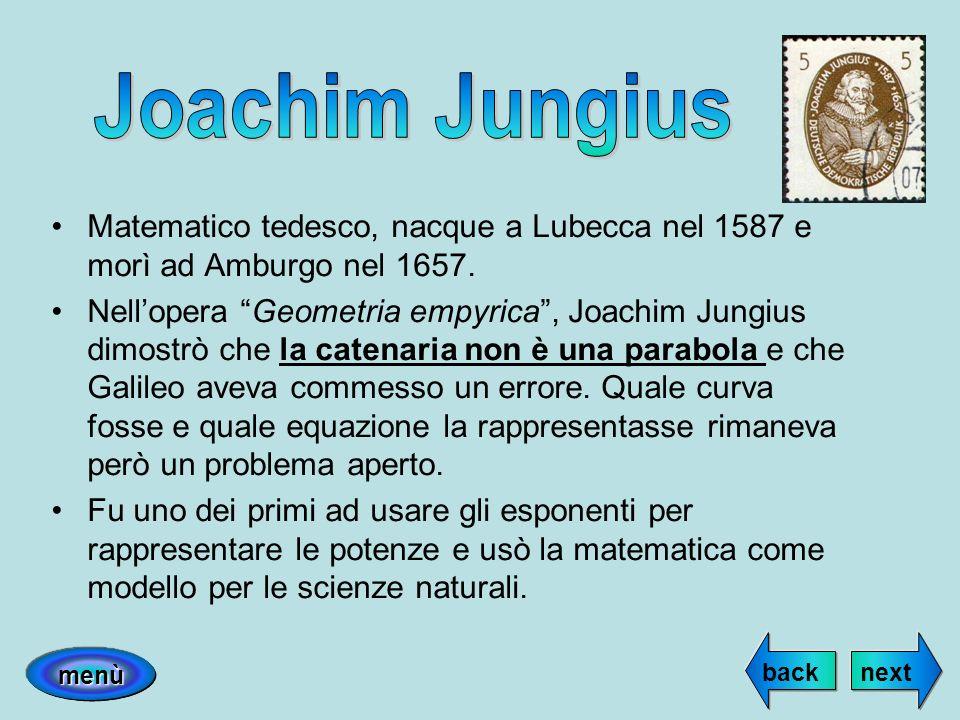 Joachim JungiusMatematico tedesco, nacque a Lubecca nel 1587 e morì ad Amburgo nel 1657.