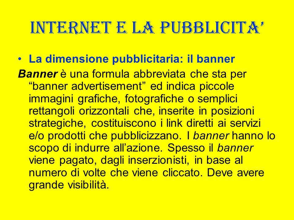INTERNET E LA PUBBLICITA'