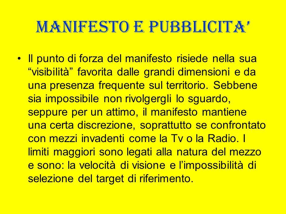 MANIFESTO E PUBBLICITA'