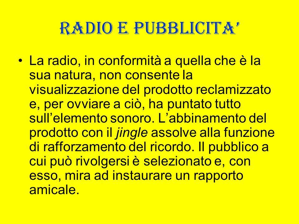 RADIO E PUBBLICITA'