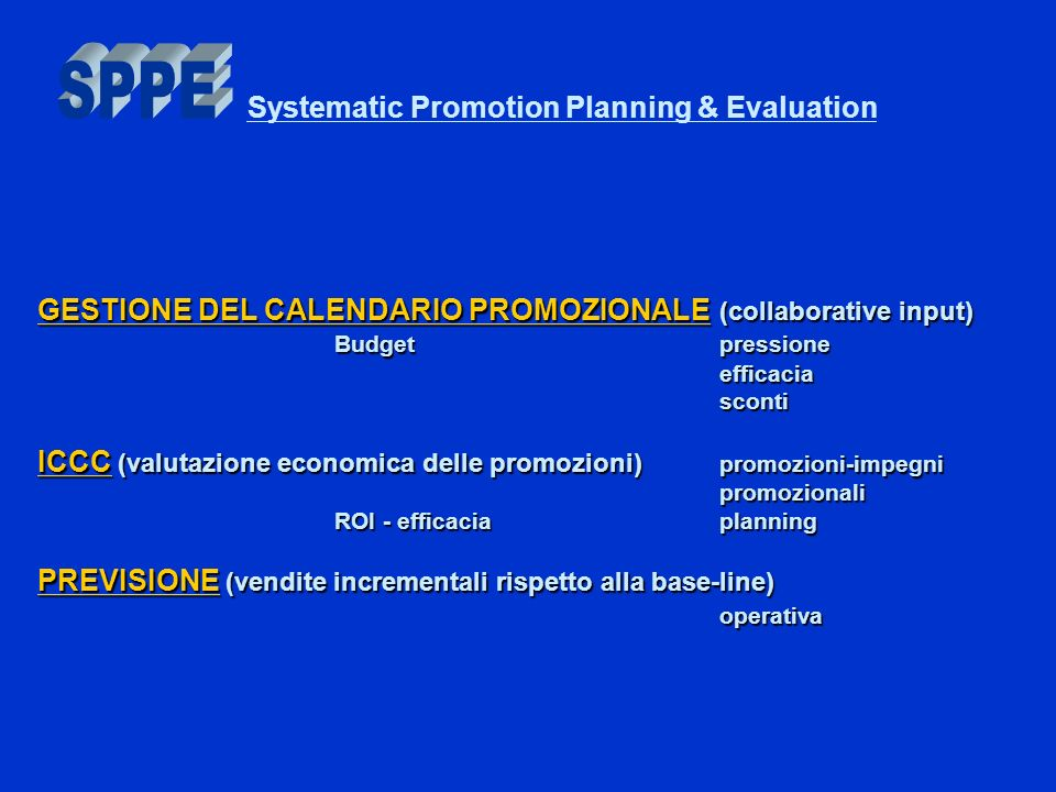 Systematic Promotion Planning & Evaluation