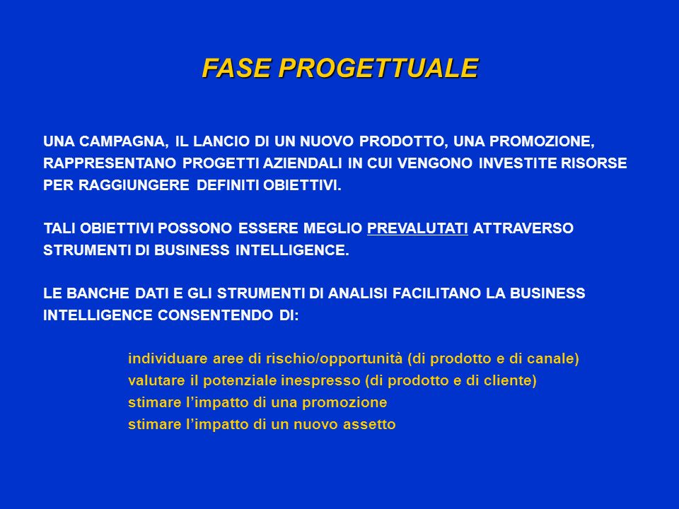FASE PROGETTUALE