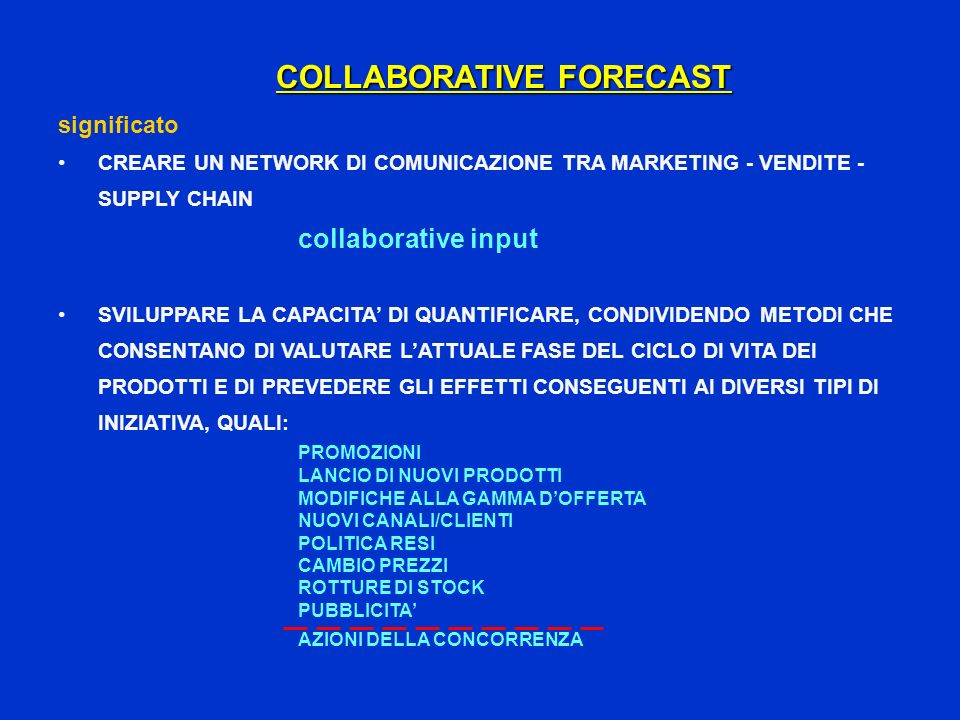 COLLABORATIVE FORECAST
