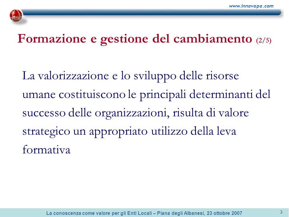 Formazione e gestione del cambiamento (2/5)