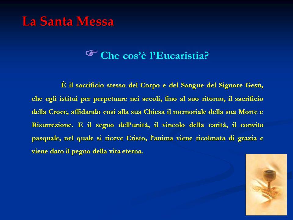 F Che cos'è l'Eucaristia