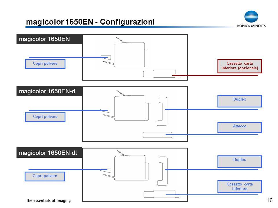 magicolor 1650EN - Configurazioni