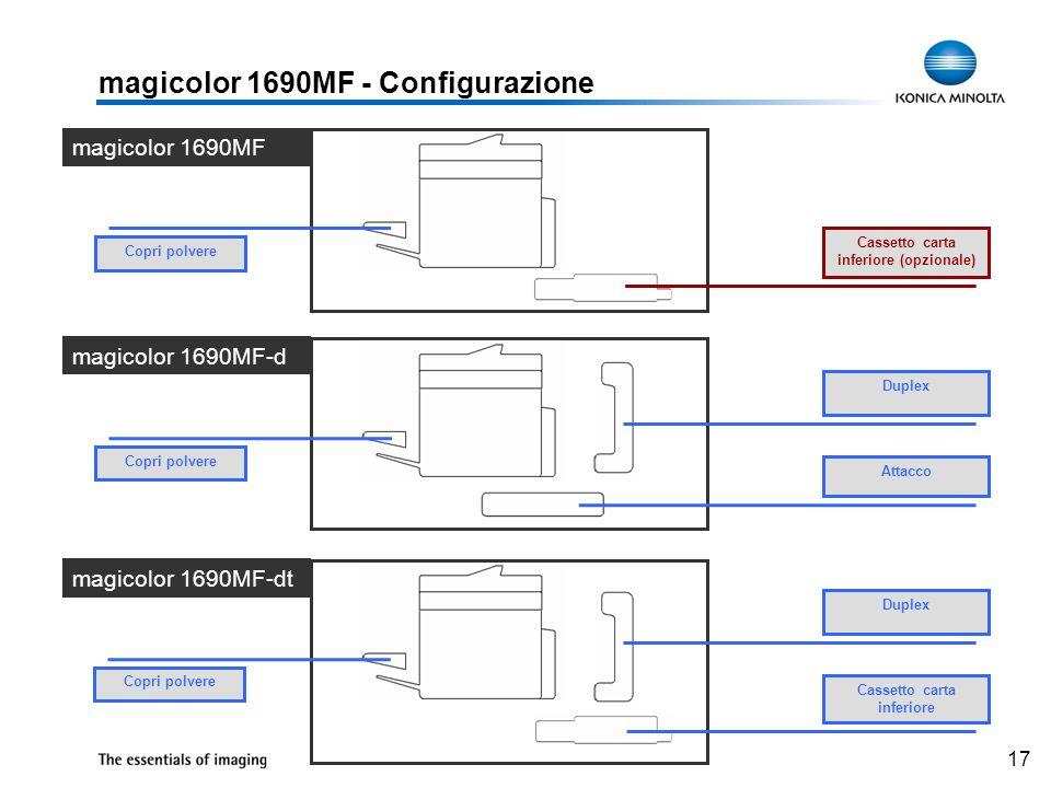 magicolor 1690MF - Configurazione