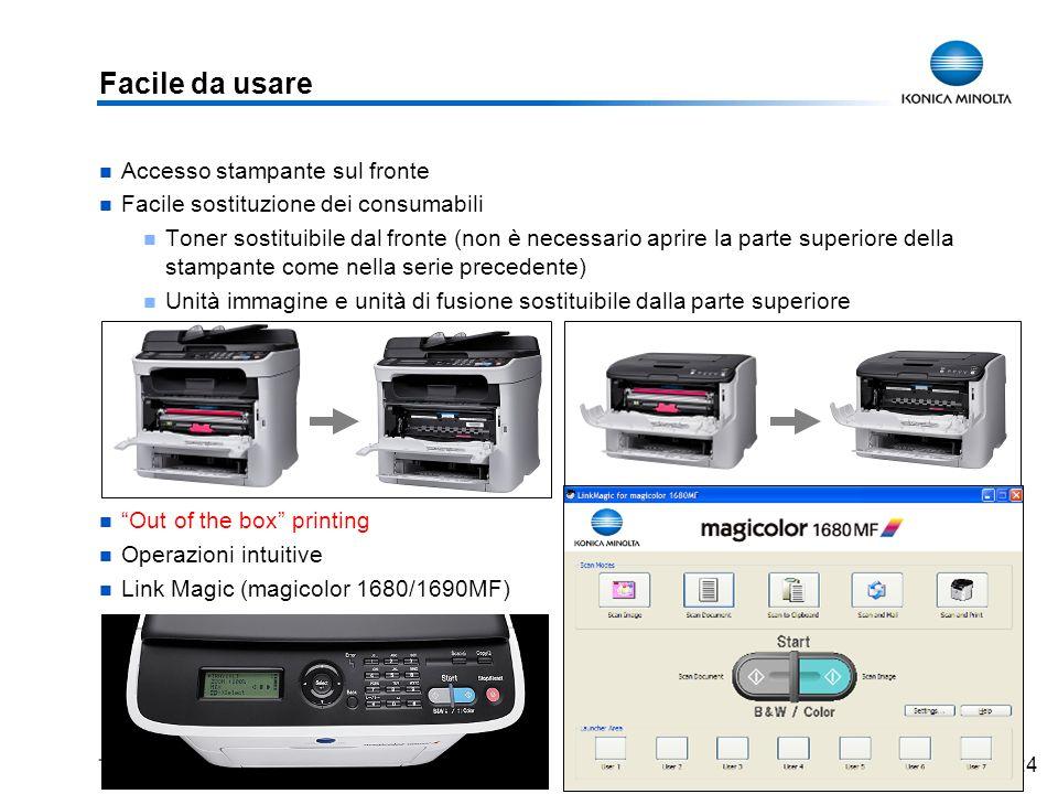 Facile da usare Accesso stampante sul fronte