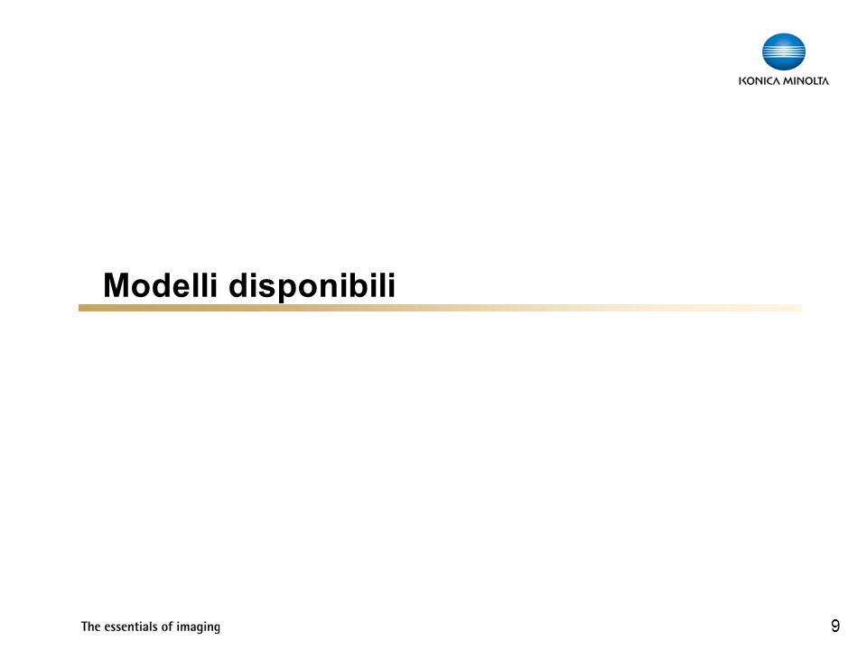 Modelli disponibili