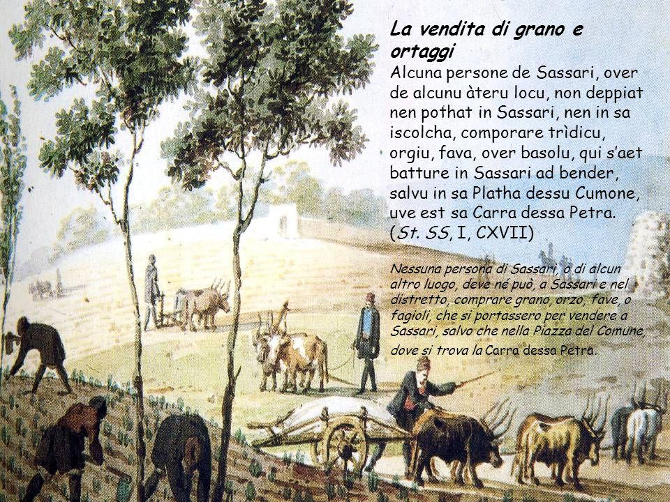 La vendita di grano e ortaggi
