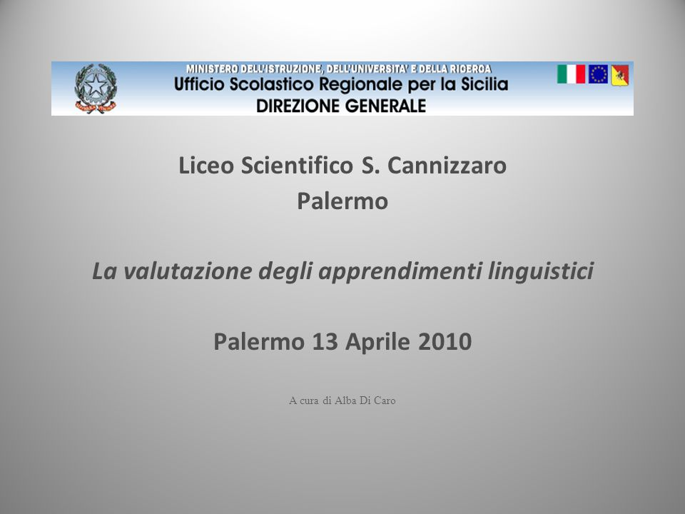 Liceo Scientifico S. Cannizzaro Palermo