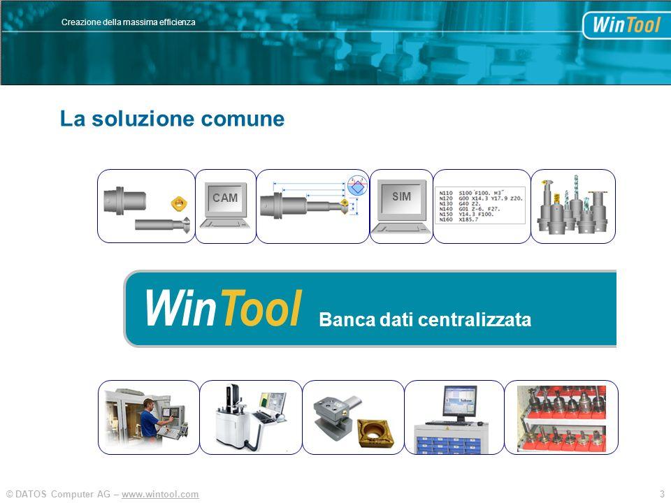 La soluzione comune SIM CAM WinTool Banca dati centralizzata