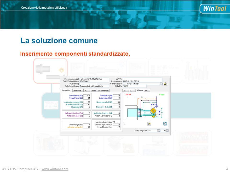 WinTool La soluzione comune Banca dati centralizzata