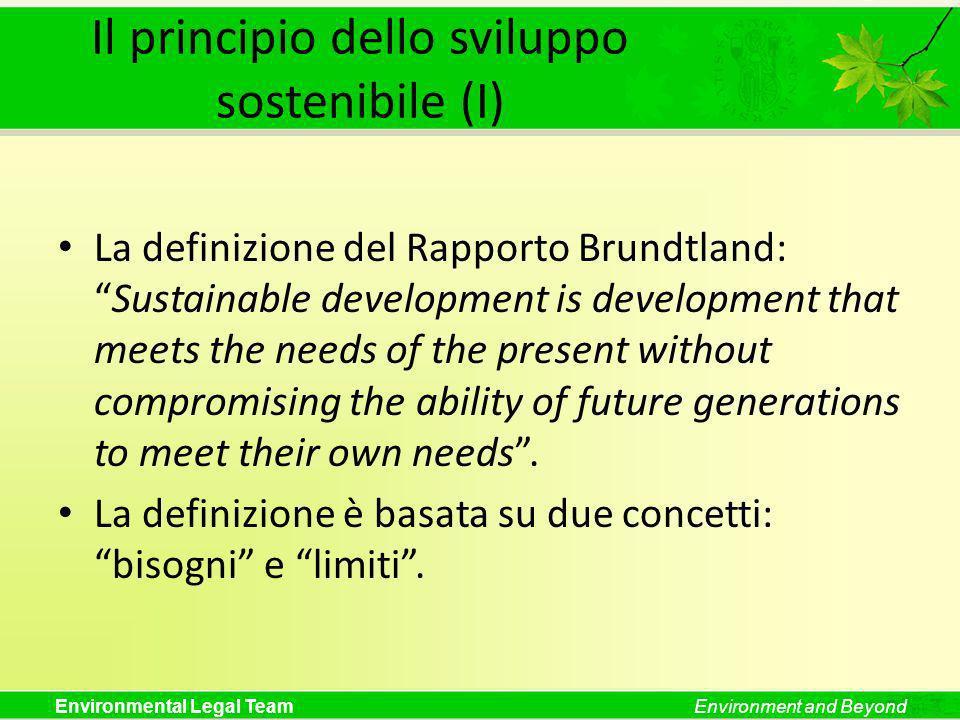 Il principio dello sviluppo sostenibile (I)