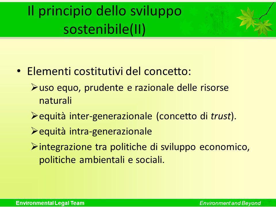 Il principio dello sviluppo sostenibile(II)