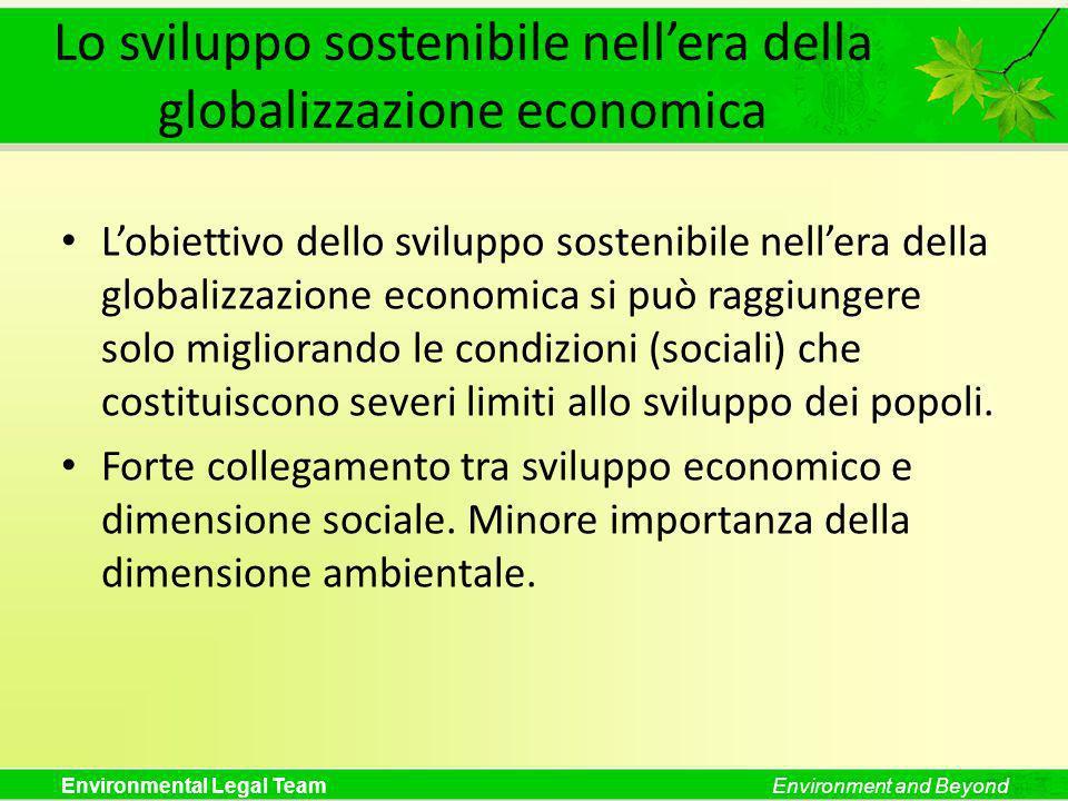 Lo sviluppo sostenibile nell'era della globalizzazione economica