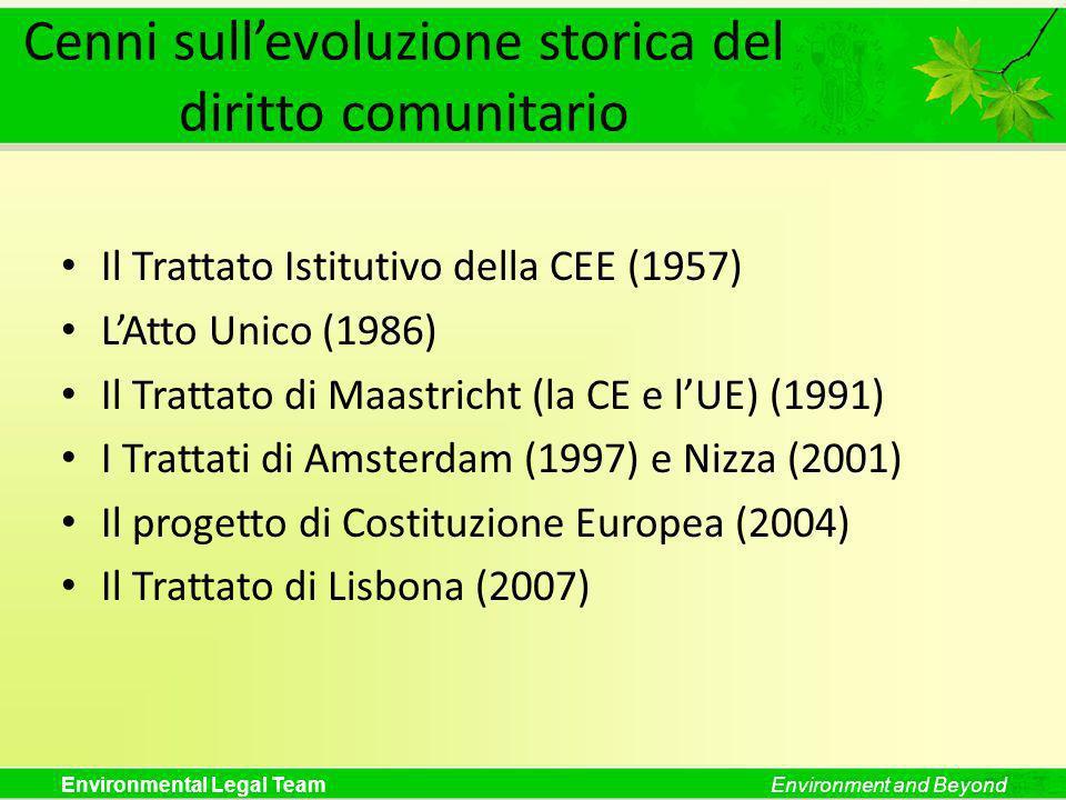 Cenni sull'evoluzione storica del diritto comunitario