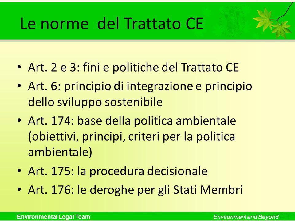 Le norme del Trattato CE