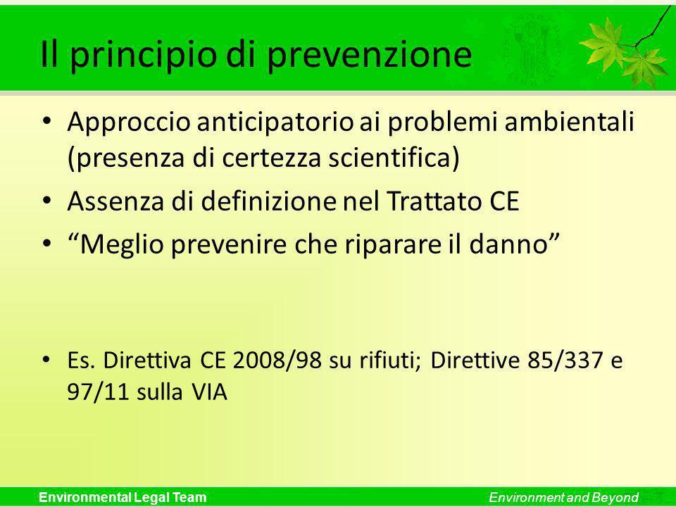 Il principio di prevenzione