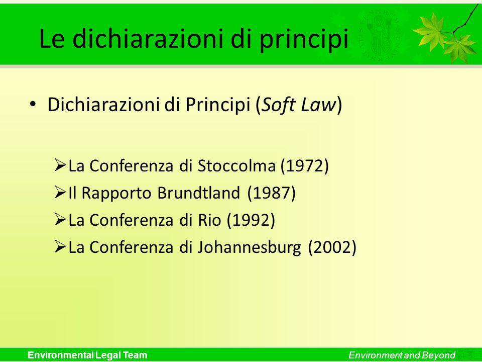 Le dichiarazioni di principi