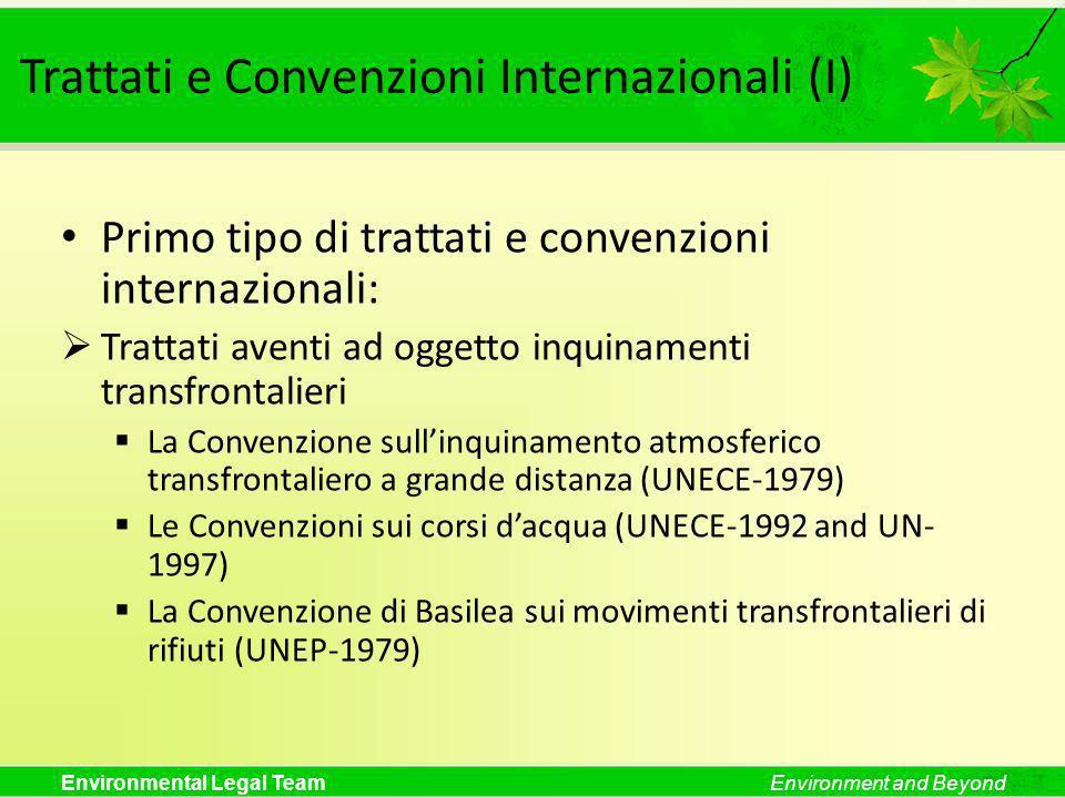 Trattati e Convenzioni Internazionali (I)