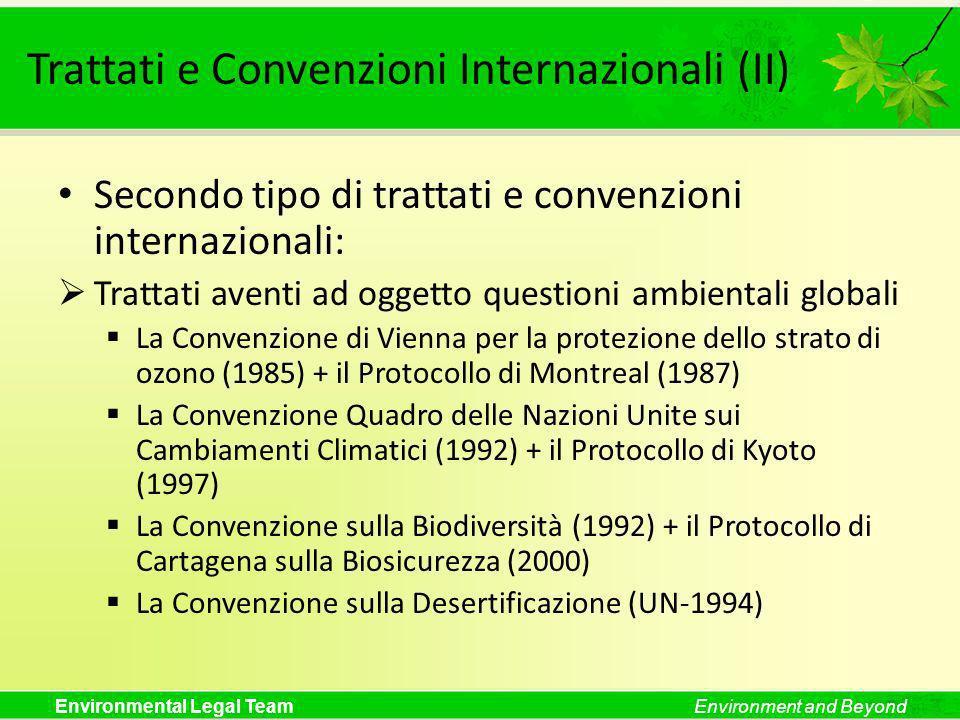 Trattati e Convenzioni Internazionali (II)