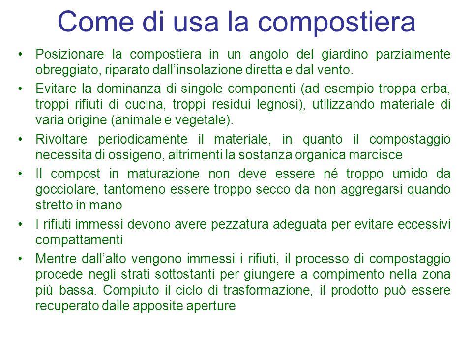 Come di usa la compostiera