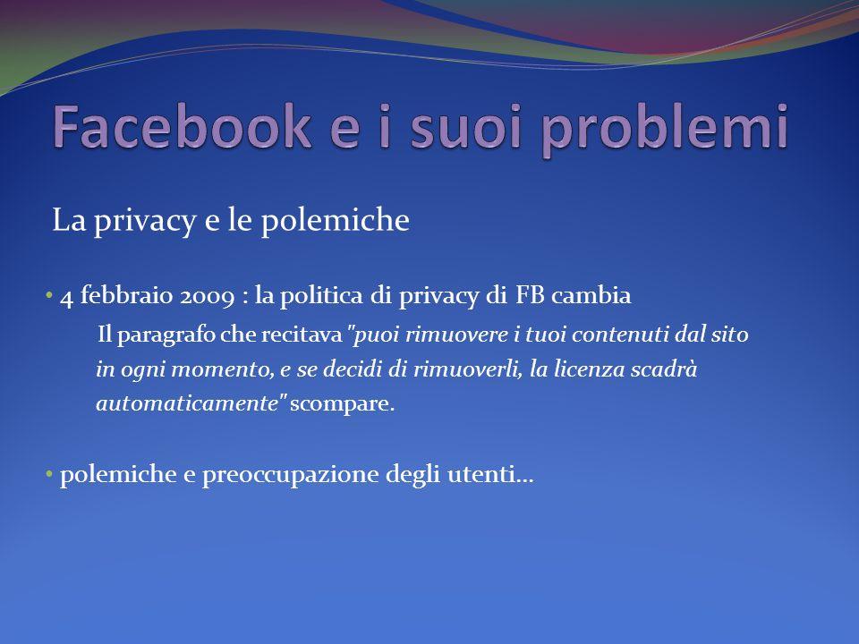 Facebook e i suoi problemi