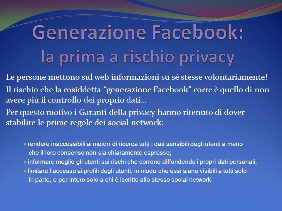 Generazione Facebook: la prima a rischio privacy