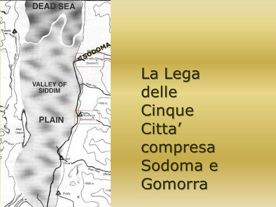 La Lega delle Cinque Citta' compresa Sodoma e Gomorra