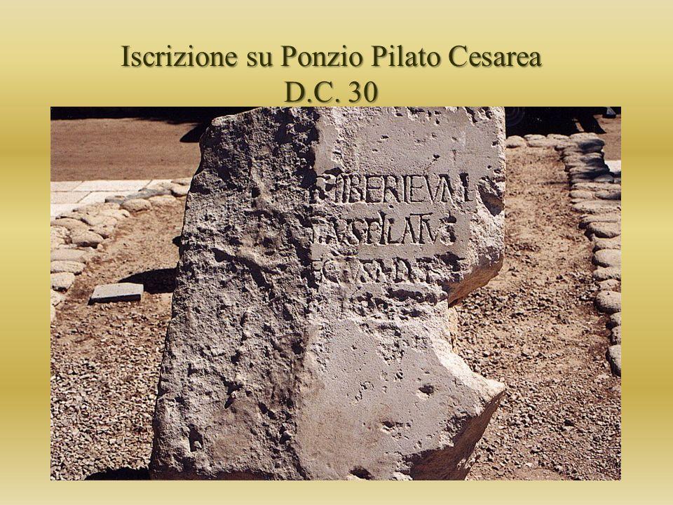 Iscrizione su Ponzio Pilato Cesarea D.C. 30