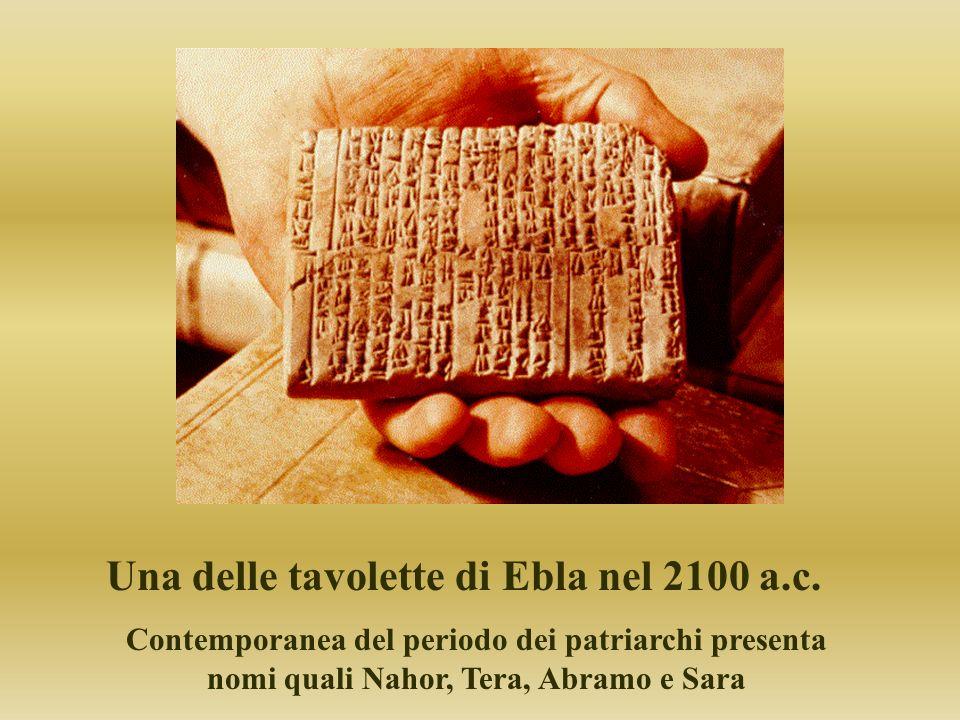 Una delle tavolette di Ebla nel 2100 a.c.