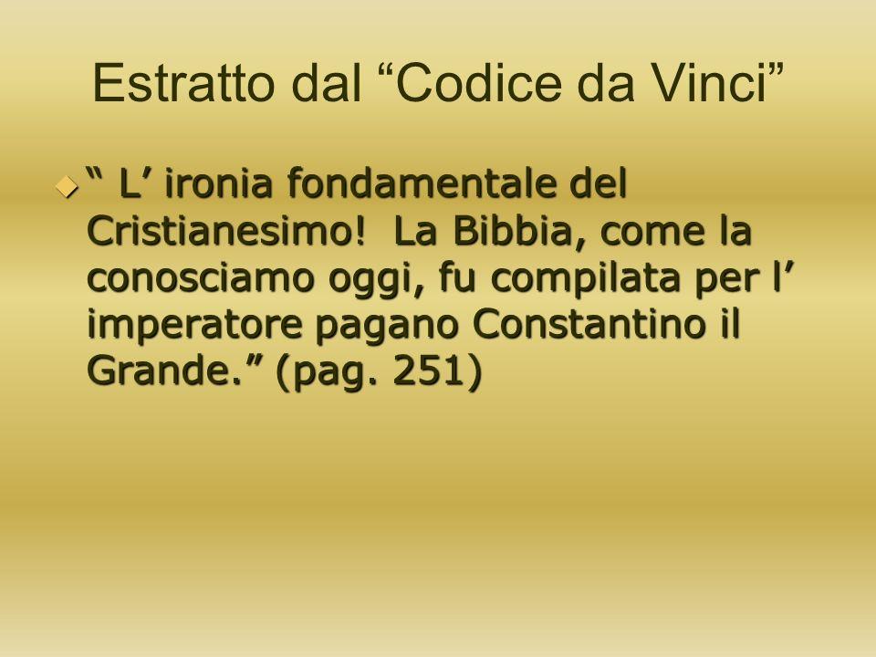 Estratto dal Codice da Vinci