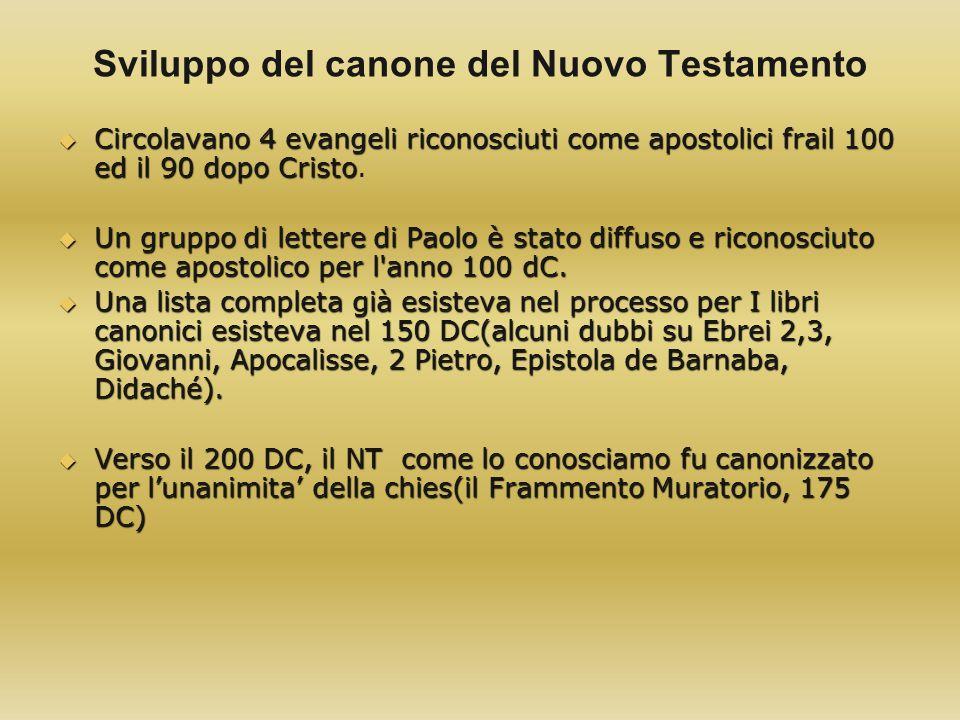Sviluppo del canone del Nuovo Testamento