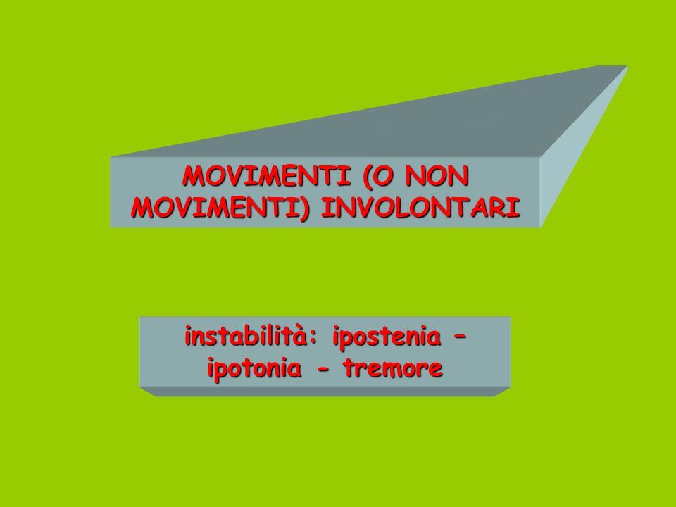 MOVIMENTI (O NON MOVIMENTI) INVOLONTARI
