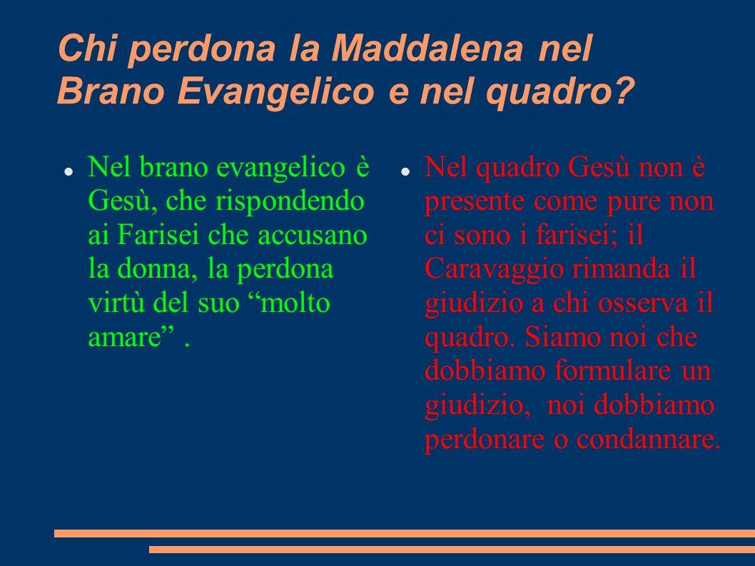 Chi perdona la Maddalena nel Brano Evangelico e nel quadro