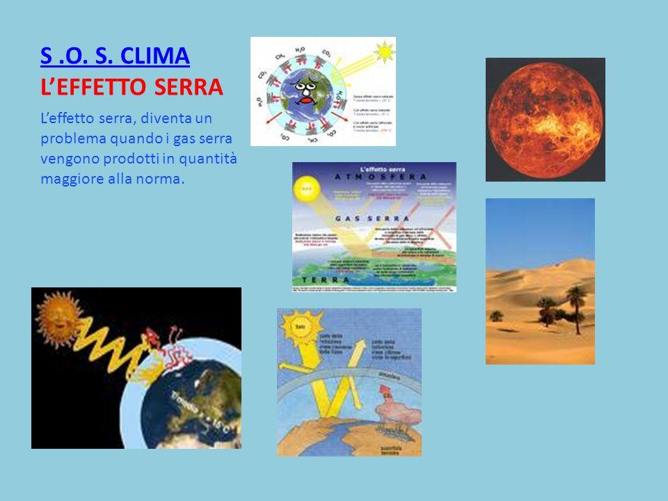 S .O. S. CLIMA L'EFFETTO SERRA