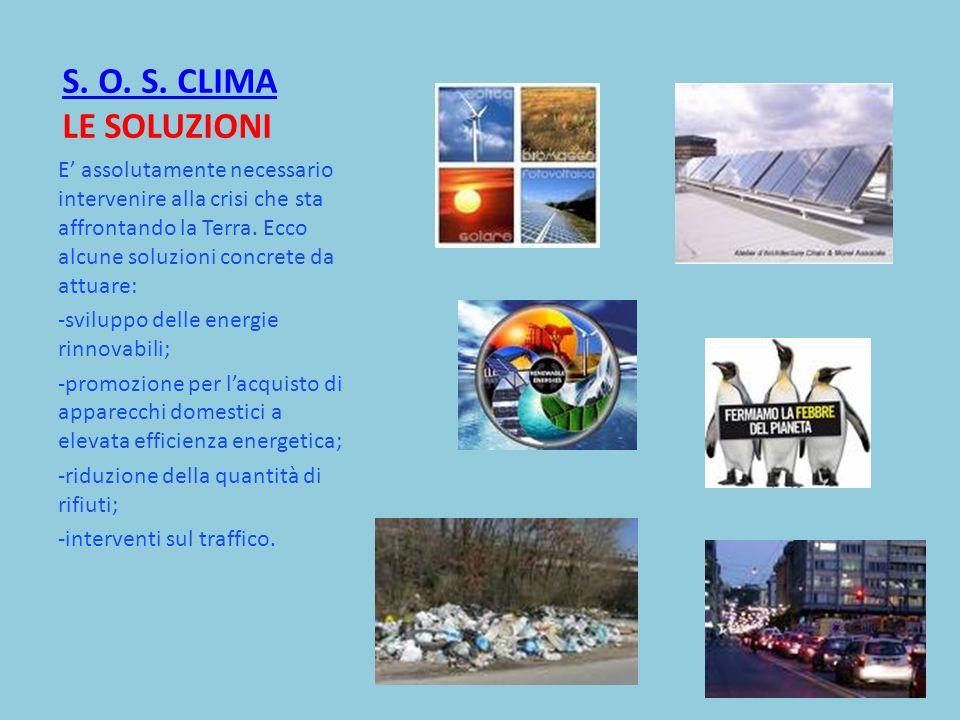S. O. S. CLIMA LE SOLUZIONI