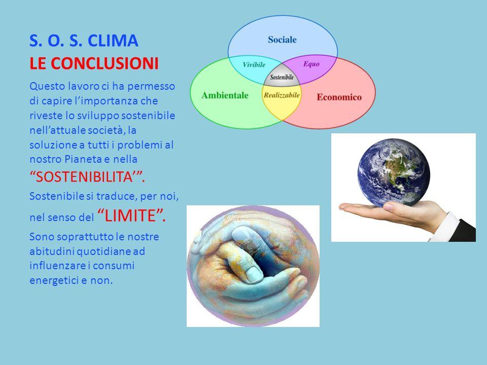 S. O. S. CLIMA LE CONCLUSIONI