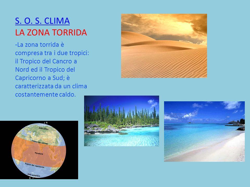 S. O. S. CLIMA LA ZONA TORRIDA