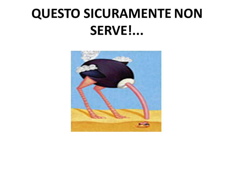QUESTO SICURAMENTE NON SERVE!...