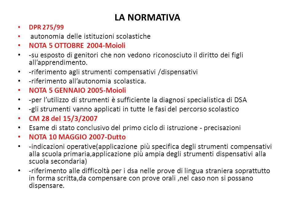 LA NORMATIVA NOTA 5 OTTOBRE 2004-Moioli