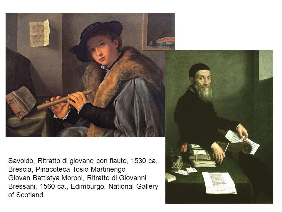 Savoldo, Ritratto di giovane con flauto, 1530 ca,