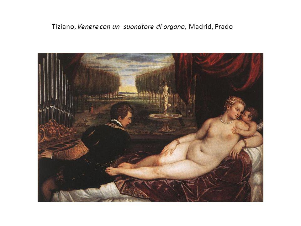 Tiziano, Venere con un suonatore di organo, Madrid, Prado