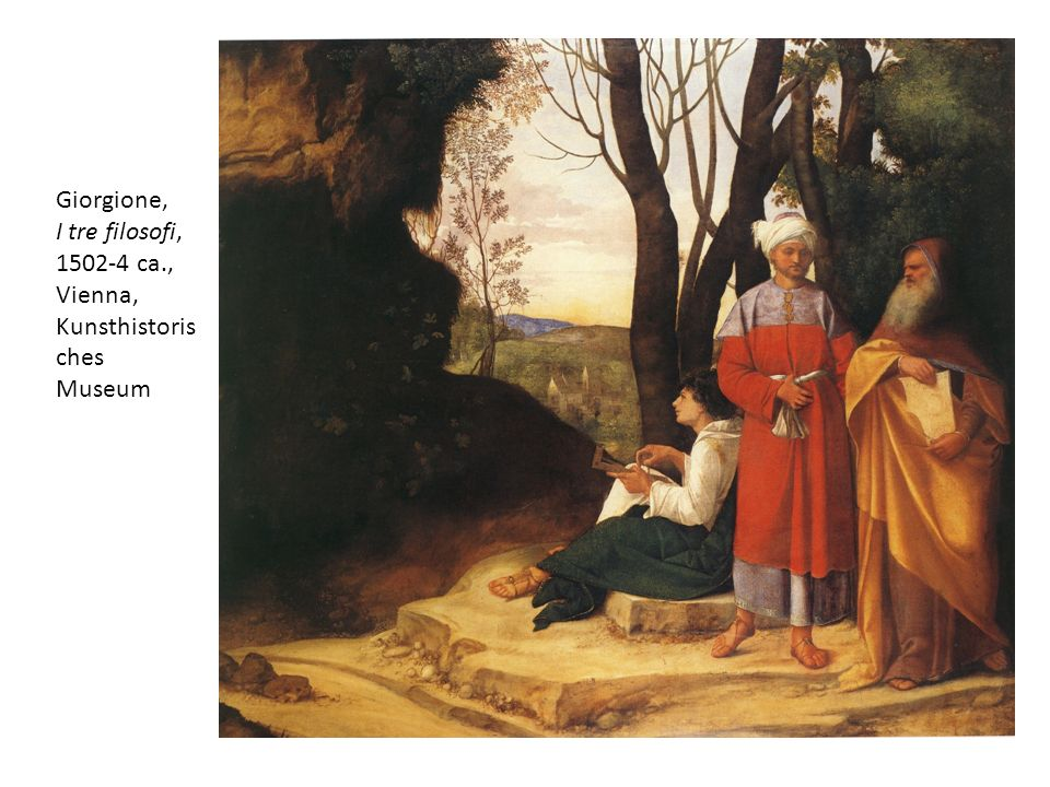 Giorgione, I tre filosofi, 1502-4 ca., Vienna, Kunsthistorisches Museum