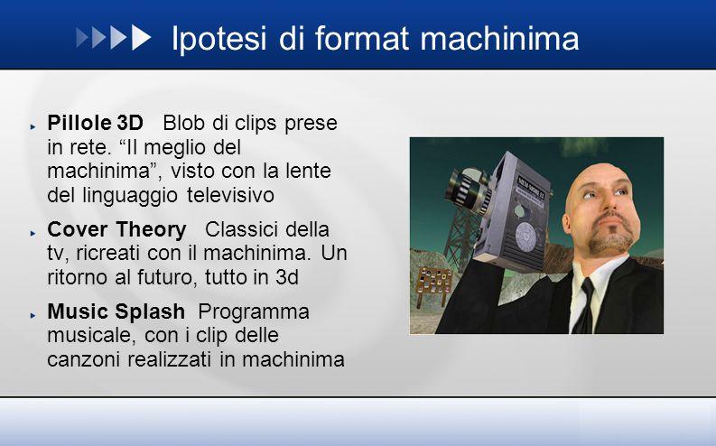 Ipotesi di format machinima