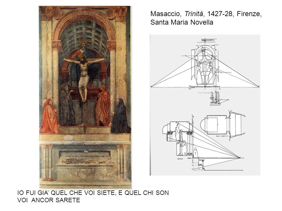 Masaccio, Trinità, 1427-28, Firenze, Santa Maria Novella