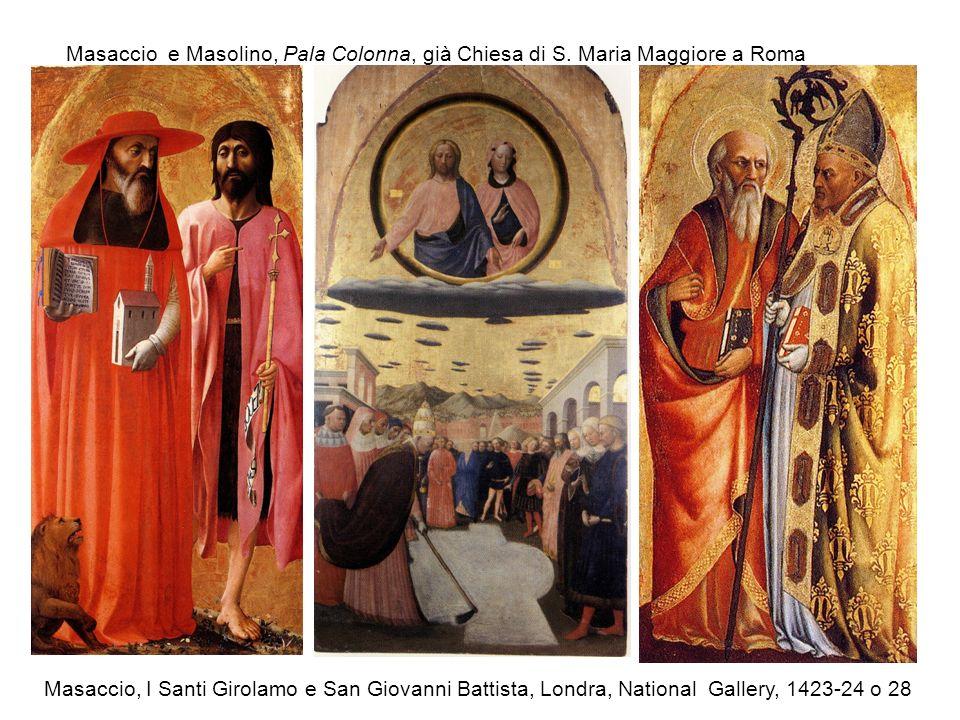 Masaccio e Masolino, Pala Colonna, già Chiesa di S